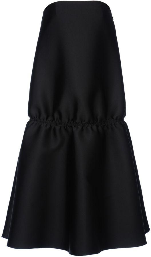 Stella McCartney Black Silk Mix Duchesse Hella Dress