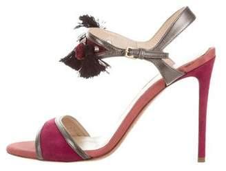 Etro Suede Tassel Sandals