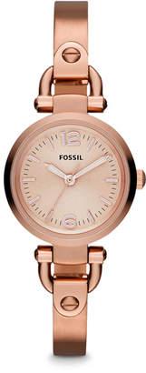 Fossil Georgia Mini Rose-Tone Stainless Steel Watch