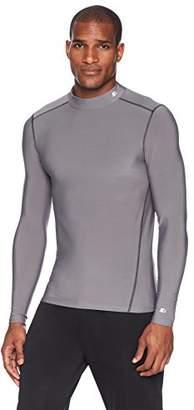 Starter Men's Long Sleeve Mock Neck Athletic Light-Compression T-Shirt