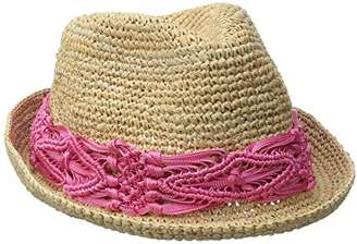 Physician Endorsed Women's Malia Crochet Raffia Sun Hat with Macrame Trim