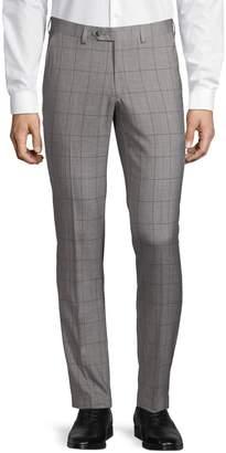 1670 Slim-Fit Windowpane Dress Pants
