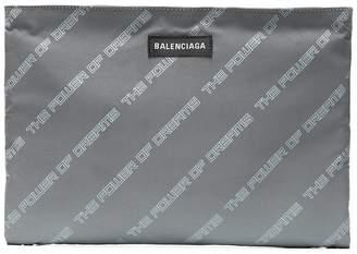 Balenciaga Grey 'The Power Of Dreams' Pouch