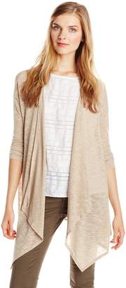 Pure Style Girlfriends Women's Draped Long Cardigan