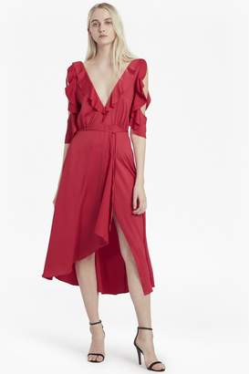 French Connection Maudie Drape Cold Shoulder Dress