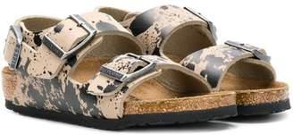 Birkenstock Kids splatter print sandals