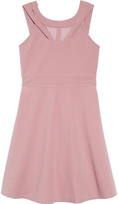 Love, Nickie Lew Mesh Cutout Fit & Flare Dress