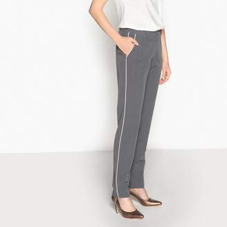 "Anne Weyburn Straight Stretch Twill Trousers, Length 30.5"""