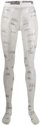 Courreges logo tights