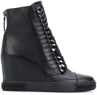 Casadei concealed wedge ankle boots