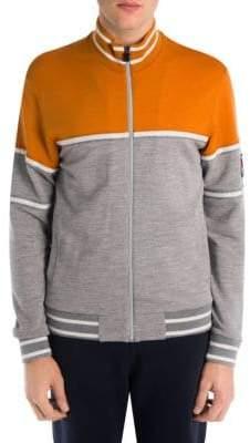 Ermenegildo Zegna Techmerino Wool Colorblock Zip Jacket