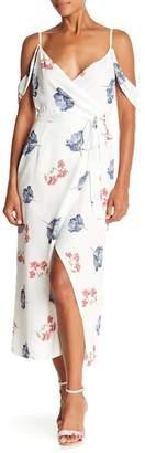 ABS by Allen Schwartz V-Neck Cold Shoulder Floral Print Dress
