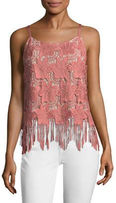 Alice + Olivia Women's Waverly Loose Lace Camisole