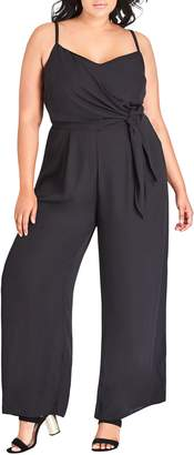 City Chic Side Tie Jumpsuit