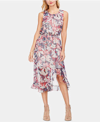 Vince Camuto Tropical-Print High-Low Dress