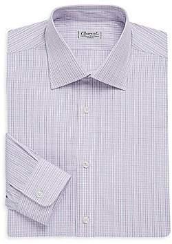 Charvet Men's Regular-Fit Plaid Cotton Dress Shirt