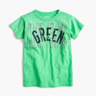 """J.Crew Boys' """"lucky green"""" T-shirt"""