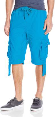 Southpole Men's Jogger Shorts with Cargo Pockets In Basic Color and Twill Fabric