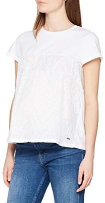 Bellybutton Women's Bluse 1/4 Arm Blouse, (Bright White 1000), S