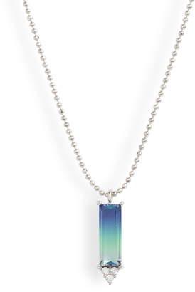 Nordstrom Ombre Baguette Pendant Necklace