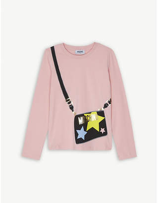 Moschino Handbag print cotton-blend T-shirt 4-14 years
