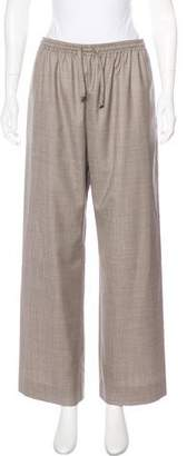 eskandar Wool & Silk High-Rise Pants
