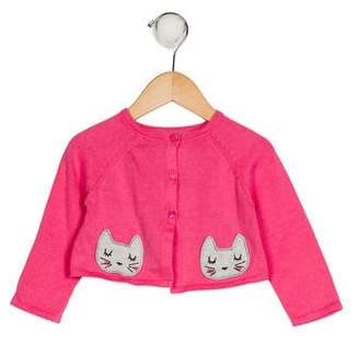 Catimini Girls' Embroidered Knit Cardigan