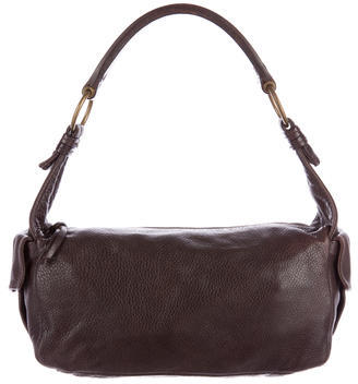 Miu MiuMiu Miu Pebbled Leather Shoulder Bag