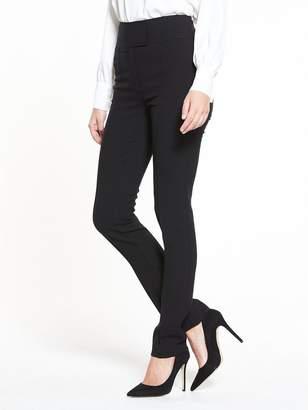 Very High Waisted Slim Leg Trouser - Black