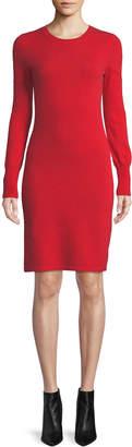 Neiman Marcus Plus Size Cashmere Long-Sleeve Sweater Dress