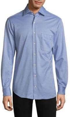 Peter Millar Stretch Cotton Dot Button-Down Shirt
