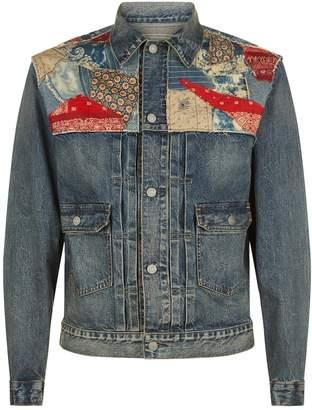 Polo Ralph Lauren Patchwork Denim Perry Trucker Jacket