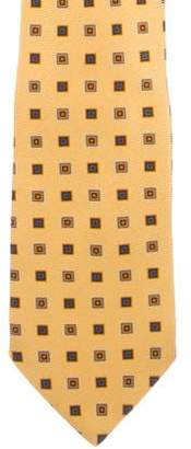 Burberry Geometric Print Silk Tie