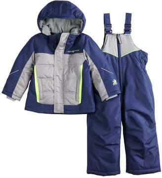 ZeroXposur Toddler Boy Bryce Reflective Heavyweight Jacket & Bib Snow Pants Set