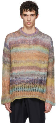 Acne Studios Multicolor Mohair-Blend Long Sweater