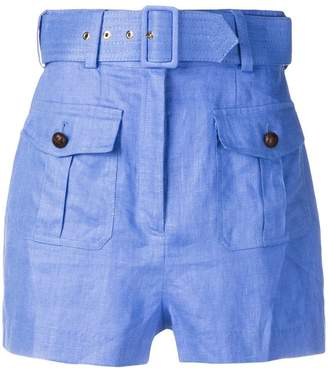 Zimmermann high waisted belted shorts