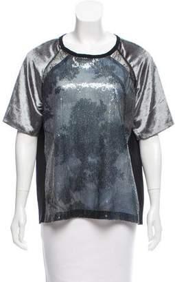 Schumacher Sequin-Embellished Silk Top