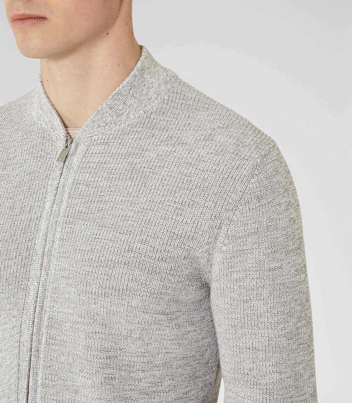 Reiss Champ Zip Melange Cardigan