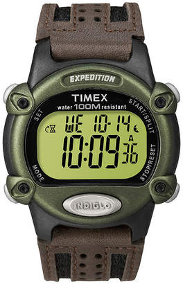 4268171b985 Timex Expedition Mens Brown Leather Strap Digital Watch T480429J