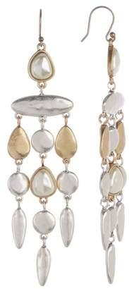 Lucky Brand Two-Tone 10mm Pearl Dangle Earrings