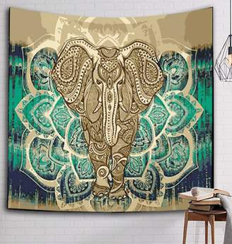 Camilla And Marc ZebraSmile Digital Printing Colorful Elephant Pattern Tapestry Beach Towel Bedspread Wall Hanging Tapestry Wall Art Decor Tablecloth Tapestriesches(229X150 CM)