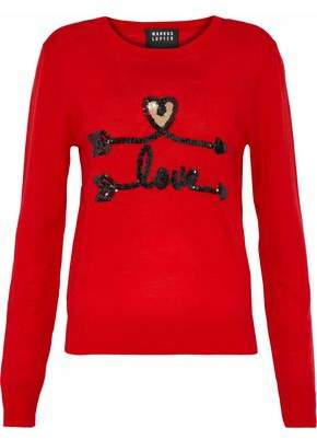 Markus Lupfer Grace Sequin-Embellished Merino Wool Sweater