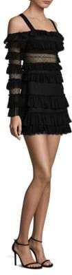 Alexis Lace Cold-Shoulder Dress