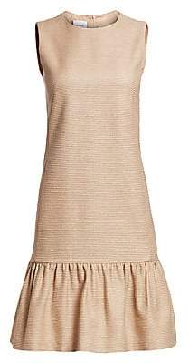 Akris Punto Women's Sleeveless Raw Silk Drop Waist Dress