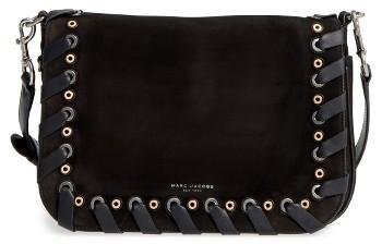 Marc JacobsMarc Jacobs Courier Nubuck Leather Shoulder Bag - Black