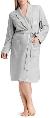 Lauren Ralph Lauren Plus Quilted Collar & Cuff Short Robe