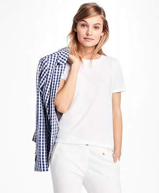 Eyelet-Back Jersey Tee Shirt $58 thestylecure.com