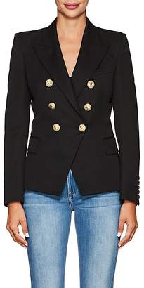 Balmain Women's Virgin Wool Double-Breasted Blazer