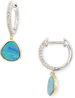 Meira T Opal & Diamond Pave Stud Earrings