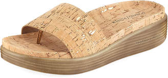 Donald J Pliner Fiji Metallic Cork Slide Sandal
